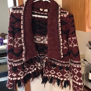 Anthropologie Moth fringe cardigan, XS